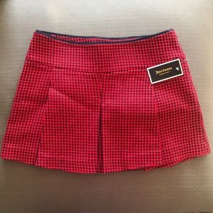 Juicy Couture red and navy plaid skirt
